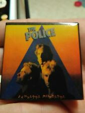Vintage 1980 THE POLICE Pin Zenyatta Mondatta  2 Inch Square Pin
