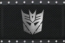 Custom Stainless Steel Grille Badge DECEPTICON Emblem Jeep Dodge Ford Tundra Ram