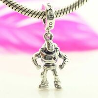 925 Sterling Silver Dis Toy Story Buzz Lightyear Dangle European Charm New