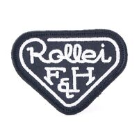 """Rollei Rolleiflex F&H Logo Embroidered Sew-On Patch (2"""" x 2.75"""") #Q07"""
