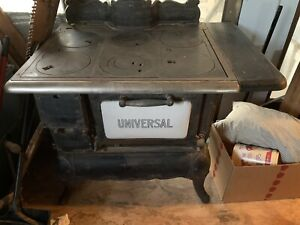 Antique Wood Burning Cook Stove Cast Iron Cribben And Sexton Co. Universal