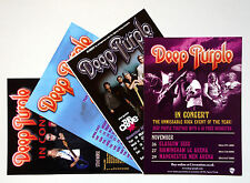 Deep Purple - set of 4 UK A5 tour flyers...ideal for framing!