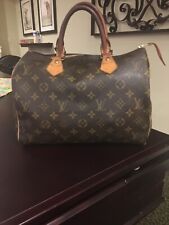 Louis Vuitton Monogram Speedy 30 Handbag SD3098 GUC