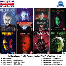Hellraiser Complete All Movie DVD Collection Film 1 2 3 4 5 6 7 8 Set