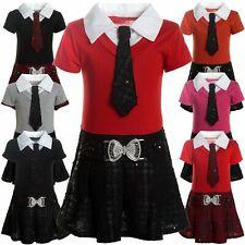Kinder Mädchen Kleider Peticoat Festkleid Freizeit Sommer Kleid Kostüm 21436
