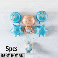 5pcs Newborn Baby Shower Girl Boys Foil Balloons Set For Birthday Party Decor