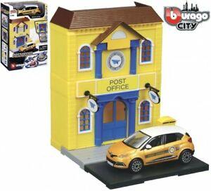 Bburago Build Your City - Post Office Bausatz 1:43 mit Renault Captur