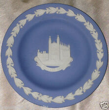 "WEDGWOOD JASPERWARE 4"" TRAY PIN DISH CREAM ON LAVENDER KINGS COLLEGE CAMBRIDGE"