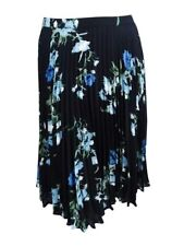 ad9b9ea53 Vince Camuto Women's Pleated Floral-Print Skirt 12, Cameo Blue