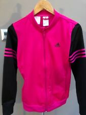 Girls Adidas Tracksuit Top Sports Zip Up Jacke Age 13/14