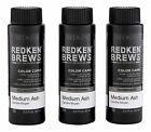 3 PACK Redken Brews Camo Medium Ash 4NA  60ml EACH. CANADA FAST FREE SHIP