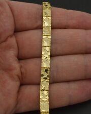 "MENS 14 KT GOLD HGE VIRGIN MARY 7/""-9/"" HEAVY NUGGET BRACELET-190"