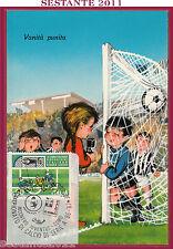 ITALIA MAXIMUM MAXI CARD INCONTRO INTER JUVENTUS CALCIO SERIE A '86 1987 B388