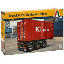 ITALERI 3887 tecnokar 20' Container Rimorchio 1:24 kit modello militare