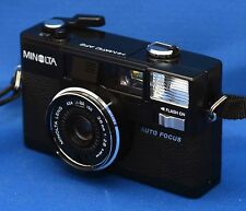 Minolta Hi-Matic AF2 Vintage Auto Focus Compact 35mm Rangefinder Film Camera 2.8