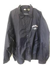 Vintage 90s STARTER Navy Blue Windbreaker Jacket Size XL