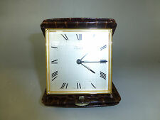 VINTAGE SWISS IMHOF WIND UP 8 DAY TRAVEL ALARM CLOCK RARE MODEL (WATCH VIDEO)