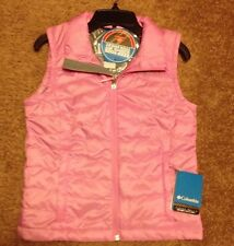 NWT Columbia Girls Omni- Heat Crested Butte Puff Vest Pink Sz: 7/8 (S)