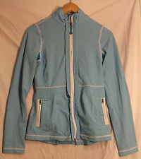 Lulu Womens Running/Riding Jacket Blue and white Hip Length Size 4 lululemon