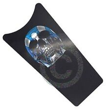 Blue Flame Skull - Dash Insert Decal for 89-07 Harley Road Glide & Touring