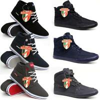 Lambretta Mens Hi Tops Trainers New High Ankle Pumps Fashion Boots Shoes Size