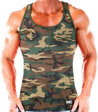 NEW Men's Monsta Clothing Workout Athletic Bodybuilding Tank Top: Camo Green