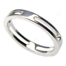 Anillo compromiso de hombre o mujer de oro blanco 18 kt. para compromiso