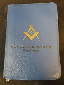 Masonic Holy Bible Great Light in Masonry 1957 Mount Rose Lodge Reno NV Holman