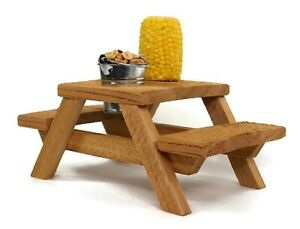 Squirrel Picnic Table - Corn Holder and Tin Bucket Included