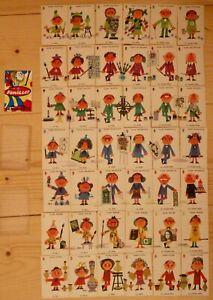 Jeu de 7 Familles Beaux-Arts Dos Orange / Illustrations de Jacquot / Complet