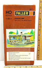 Vintage 1950's Faller HO Executive Home w/Pool Building Kit 271 Plastic Mold NIB