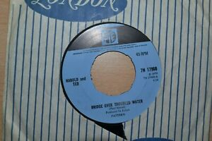 """HAROLD AND TED    BRIDGE OVER TROUBLED WATER  7"""" SINGLE  PYE RECORDS  RARE  1970"""