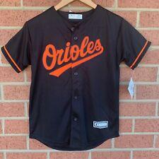 Baltimore Orioles MLB Black/Orange Button Team Jersey Youth Unisex Size Medium