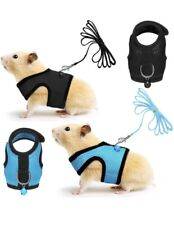 Satinior 2 Pieces Guinea Pig Harness and Leash Ferret Rats Hamster Soft Mesh .