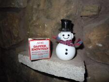 VINTAGE AVON SNOWMAN MILK GLASS BOTTLE MOONWIND COLOGNE 1970'S CHRISTMAS