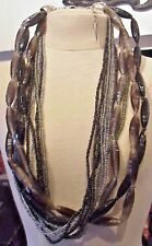 "Coldwater Creek 11 Strand Necklace 22"" Long"