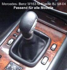 Mercedes M-Klasse W163 Echtleder Schaltknauf Farbe Schaltsack Schaltmanschette