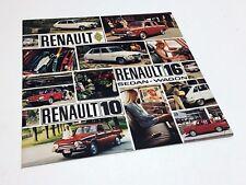 1970 Renault 10 16 Sedan Wagon Brochure