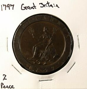 1797 Great Britain 2 Pence Coin