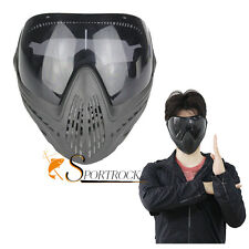 Paintball Airsoft Anti-fog Eye Protective Goggle Full Face Mask With Black Lens