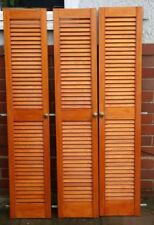 """Louvre doors x3 Vented open slatted 12"""" x 60"""" Used with hinges"""