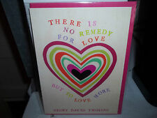 Anniversary Card New in Plastic The Art Group There is no remedy for love...
