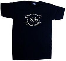 Triste Gato Escote En V Camiseta
