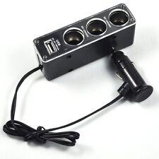 New 3 Way DC12/24V Multi Socket Car Cigarette Lighter Splitter USB Charger