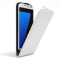 Tasche für Samsung Galaxy S7 Edge Flip Case Schutz Hülle Handy Cover Weiß