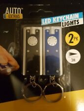 2PK ultra luminosa a LED LUCI portachiavi portachiavi portachiavi pocket batterie incluse!
