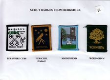 Boy Scout badges from BERKSHIRE x 4