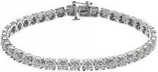 NIB Sterling Silver 1/4 Carat T.W. Diamond Tennis Bracelet Org. $305