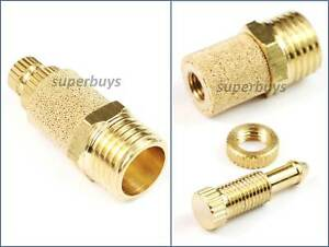 """1/4"""" BSP Adjustable Brass Pneumatic Silencer Muffler Exhaust Valve Fitting Vent"""