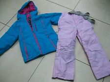 2 piece kids girls TRESPASS SKI SUIT size 7 8 years jacket salopettes pink